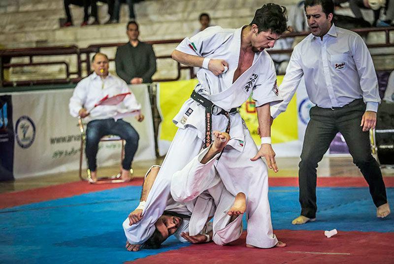 معرفی نفرات برتر مسابقات کاراته قهرمانی کشور سبک های آزاد(ساباکی)