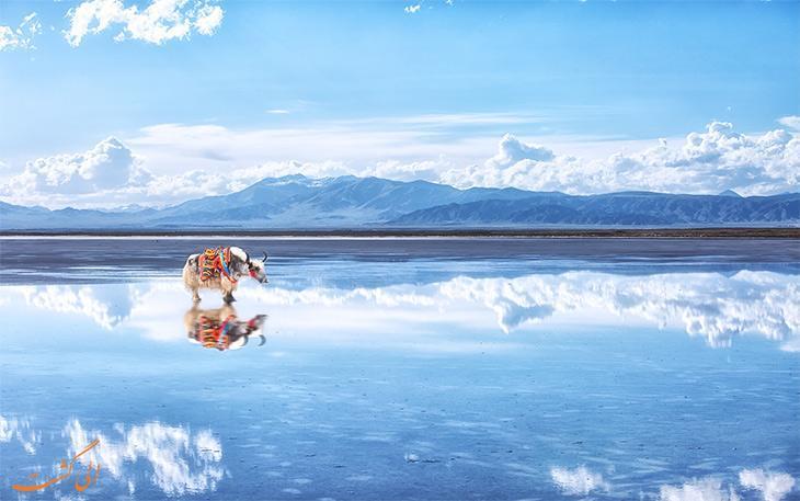 آسمان را در آینه این دریاچه نگاه کنید!