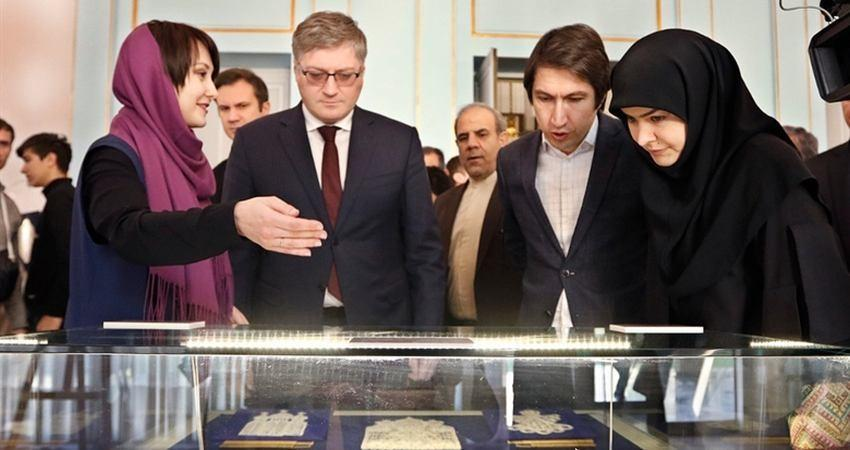 نمایشگاه لباس ها و دست بافته های سنتی روسیه در مجموعه فرهنگی تاریخی نیاوران