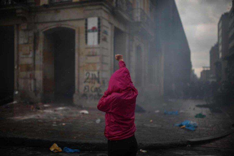عکس روز ، معترض کلمبیایی