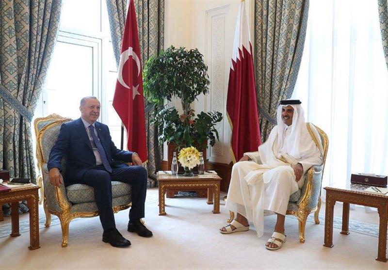 ملاقات اردوغان با امیر قطر در دوحه