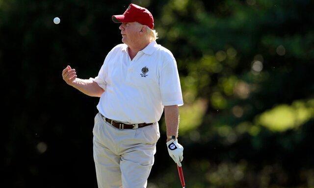 ترامپ متقلب در بازی گلف