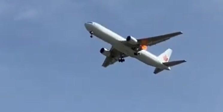 هواپیمای کانادایی بعد از سه ساعت گشت زنی در آسمان مادرید، به زمین نشست
