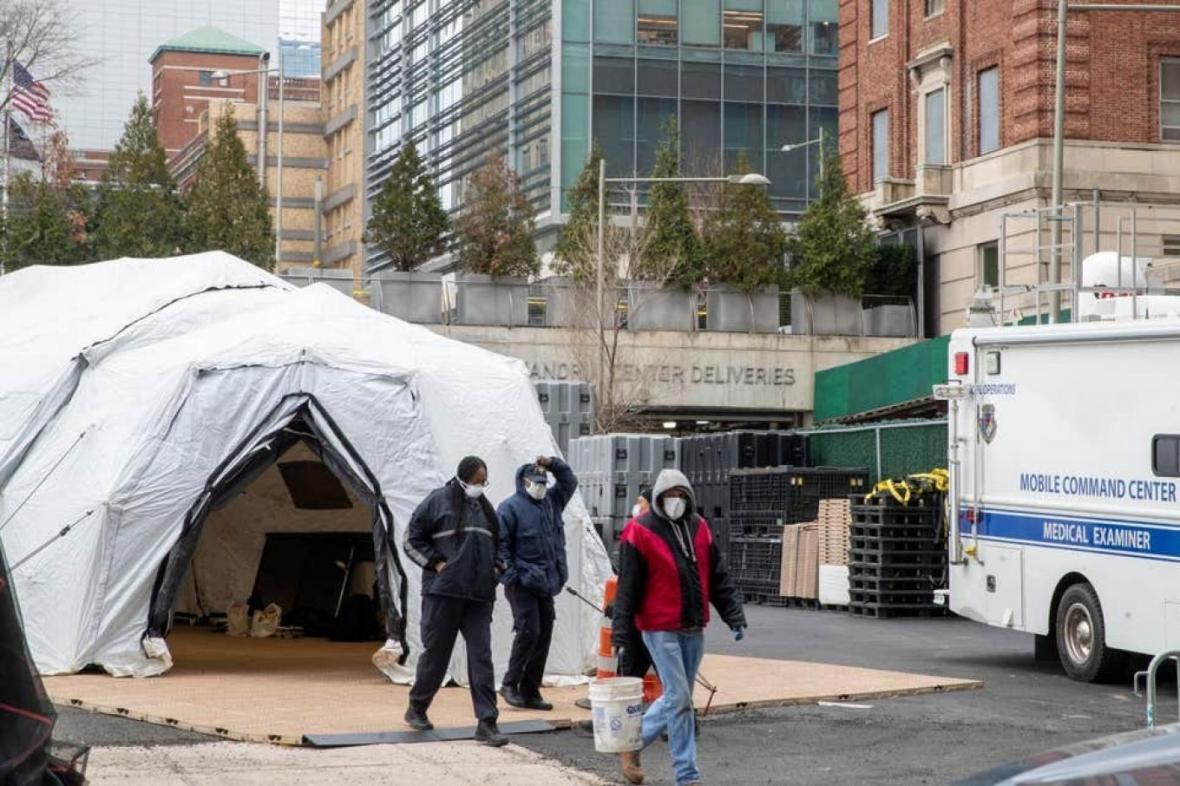 ماجرای سردخانه های موقت آمریکا برای کشته شدگان کرونا