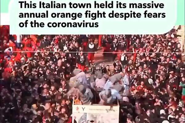 فیلم ، کارناوال چند هزار نفره در ایتالیا در روزهای کرونایی
