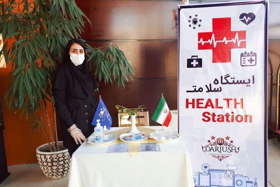 خبرنگاران راه اندازی ایستگاه سلامت در مراکز اقامتی خراسان شمالی