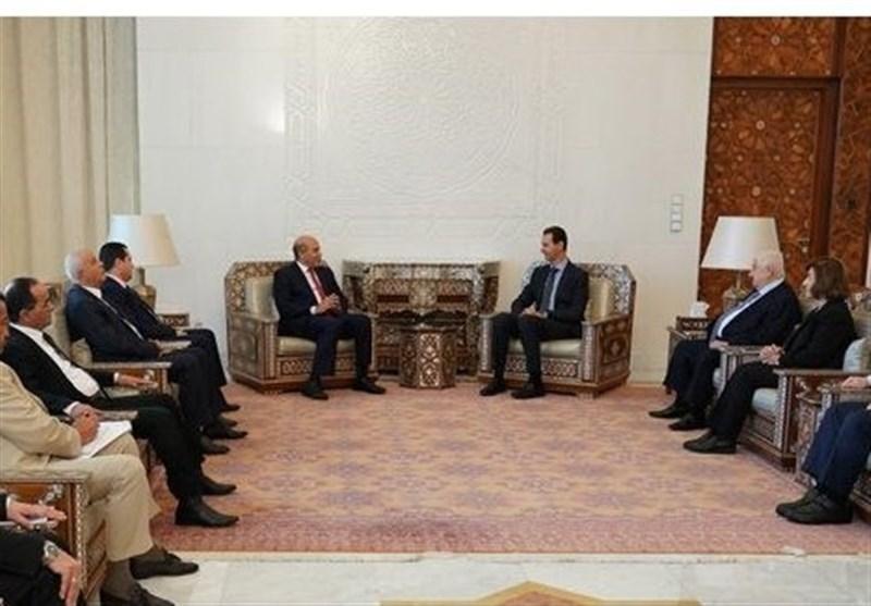 ملاقات یک هیئت لیبیایی با بشار اسد