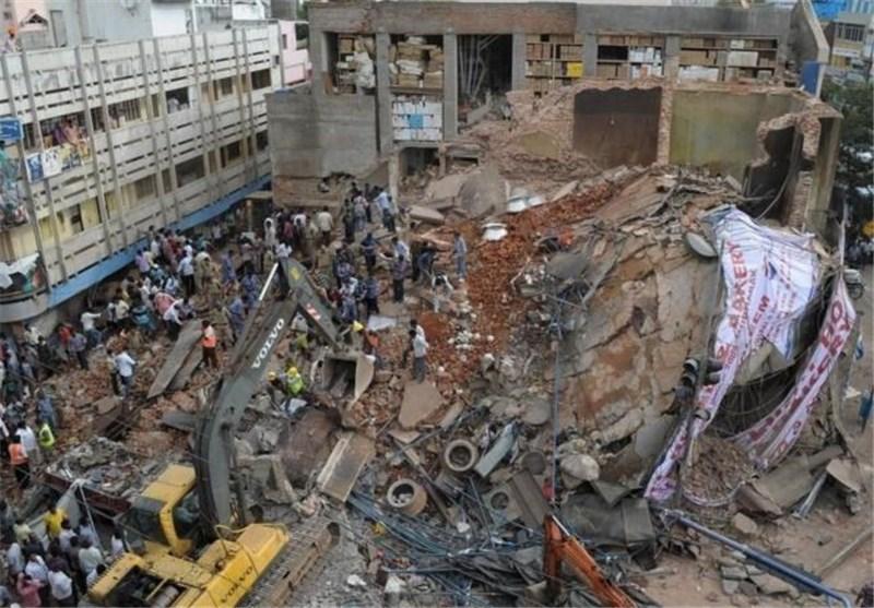 افزایش تلفات ریزش ساختمان در هند به دست کم 11 کشته