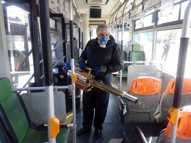 آغاز به کار 20 دستگاه پیشرفته مه پاش ضدعفونی کننده در ناوگان اتوبوسرانی پایتخت