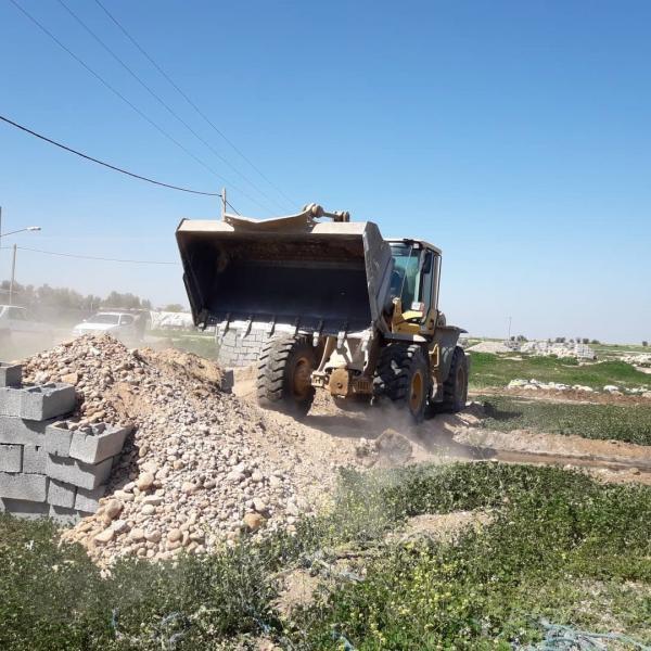 برطرف تصرف 4400 مترمربع از اراضی ملی و دولتی شهر موسیان شهرستان دهلران