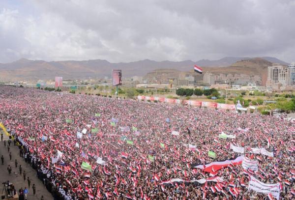 خبرنگاران تظاهرات گسترده در شمال یمن به مناسبت روز ملی مقاومت